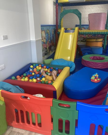 The ball pool is a hit with youngsters