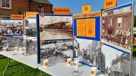 A display that's part of theAylsham Heritage Centre 10th anniversary exhibition.