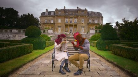 A scene from Netflix dating show Sexy Beasts filmed at Luton Hoo.