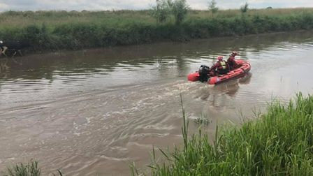 Firefighters responded to two cows who had become udderly stuck in ariver near Parnell Road in Guyhirn.