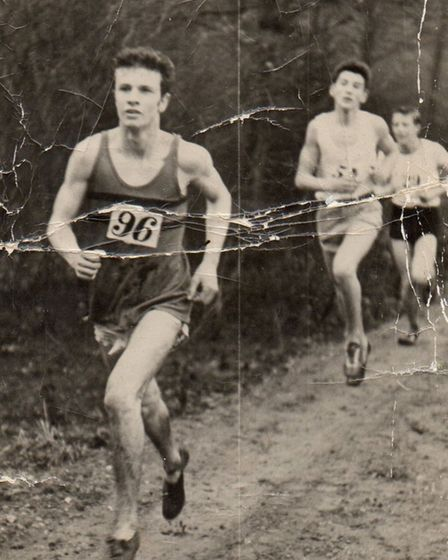 Dave Naylor in action at the Essex Cross-Country Championships in 1960
