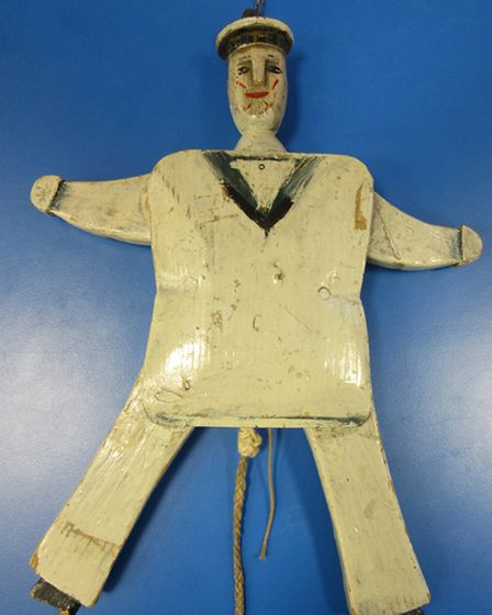 The Jumping Jack toy at the St Neots Museum
