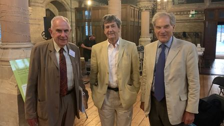 Lord Hoffmann, Lord Bragg and Lord Mance atthe AGM of the Heath and Hampstead Society at St Stephen's Church
