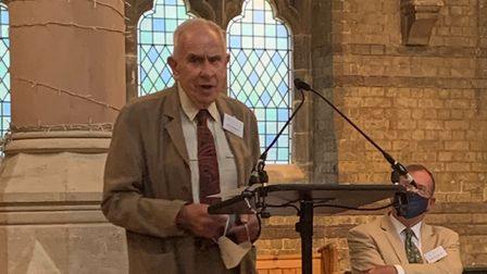 Lord Hoffmann addresses the AGM of the Heath and Hampstead Society at St Stephen's Church