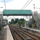 Royston station footbridge, which closed in spring 2020