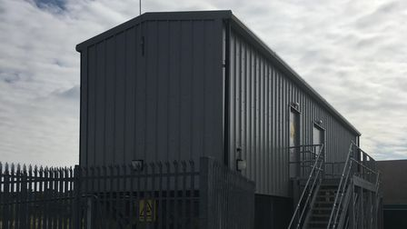 The Romford substation where the new electrical equipment has been installed.