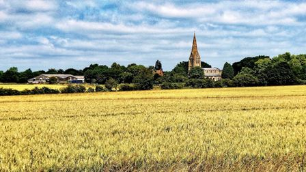 Gerry Brown took this photograph of St Mary's Church at Warboys.