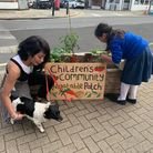 Terri and her daughterChantal of at the community patch in Willesden Lane