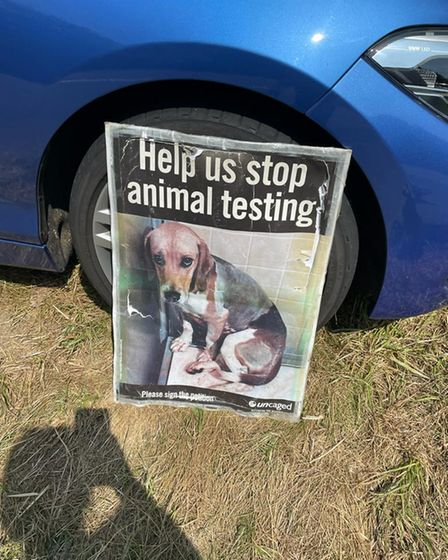 The protesters want to stop animal testing.