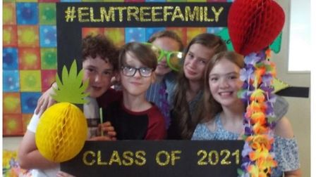 Ollie, Carl, Lily, Poppy and Kitty at the Year 6 Leavers' party.