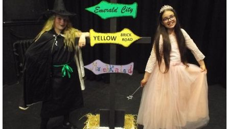 Georgia Brown and Abigail Garrett stop off at the Emerald City before heading for high school!