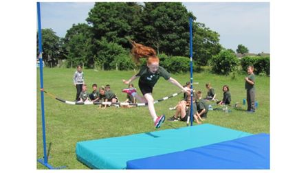 Freya takes the high jump in her stride!