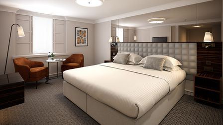 Enormous beds make a night at the Strand Palace extremely comfortable