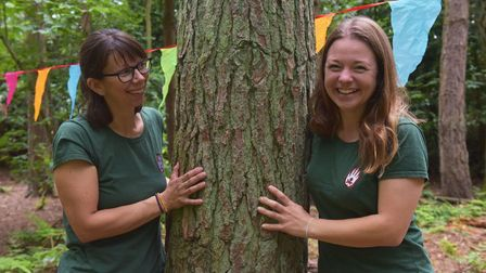 DianaLeo, left, and Davina Landers fromWild Touch forest school.