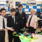 A team from Hitchin Boys' School are through to the national final of the Quadcopter Challenge. Pict