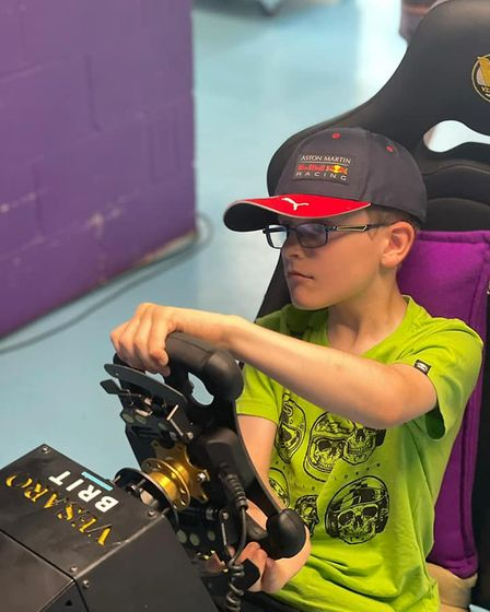 Cory Chapman, from Mundesley, tried the simulator at Team BRIT's headquarters.