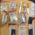 County Lines paraphernalia seized by St Albans police.