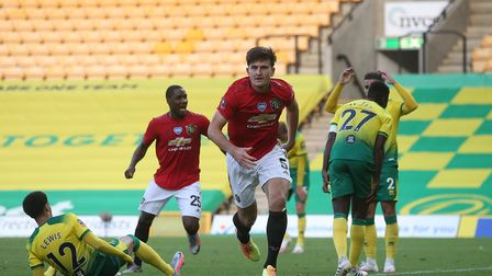 Maguire's late winner has ensured United progress to the semi-finals of the competition. Picture: