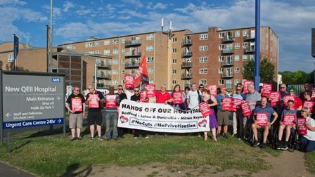 Protest against the proposed partial closure of the QE2's Urgent Care Centre