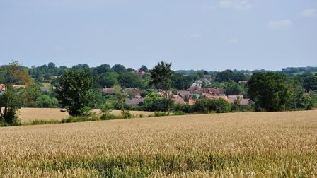 A view of Bildeston from the hill top