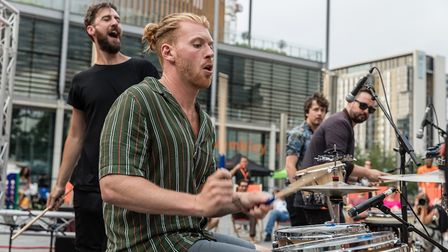 Catch the International Busking Festival in Wembley Park