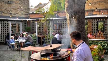 Saturday barbeque at William IV pub and guest house in Harrow Road