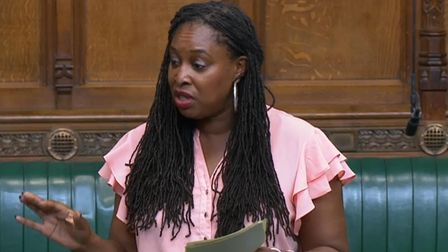 Labour MP Dawn Butler speaking in the Commons, she has been asked to leave the House of Commons for