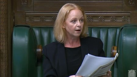 Temporary deputy speaker Judith Cummins asks Labour MP Dawn Butler to leave the House of Commons.