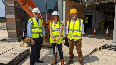 From left, North Norfolk District Council chief executive Steve Blatch, programme andproject manage
