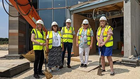 From left, North Norfolk District Council councillor Virginia Gay,