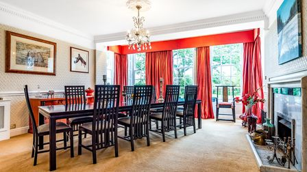One of the spacious interiors of Rushmere Lodge