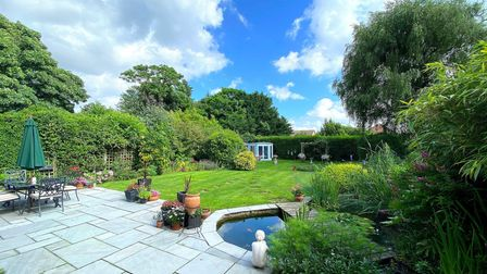 The rear garden of the home in Rushmere Road, Ipswich, a Fenn Wright Signatureproperty