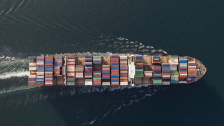 A cargo ship keeps trade going during the Covid-19 lockdown. The government is preparing to complete