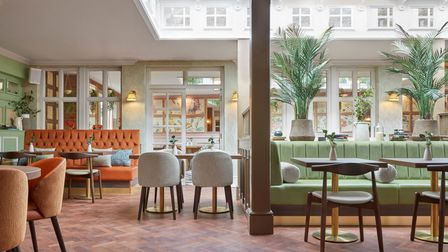 Photos show the refurbishment at the George Hotel in Buckden.