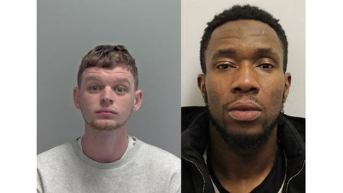 Jailed in Suffolk: Tommy Pearmain (left) and Adam Ballo