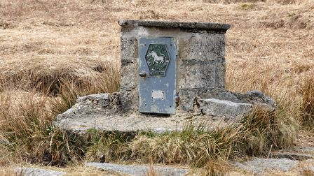 The modern letterbox atCranmere Poolin the middle of Dartmoor.