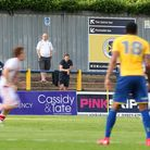 Sports reporter Neil Metcalfe watches on from the terraces at Clarence Park