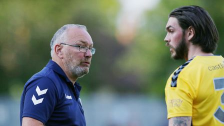 Ian Allinson, manager of St Albans City, and Tom Bender