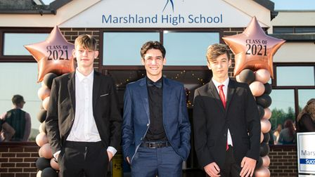 Marshland High School students arrive in style for their leavers' prom