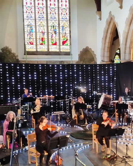 Performing the new music - a year on from the scheduled premiere - in Ambleside Parish Church