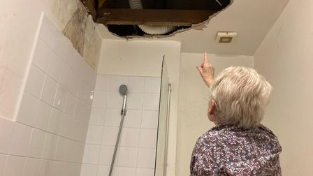 Anne Dolan had a lucky escape when her bathroom ceiling collapsed in her Notting Hill Genesis flat
