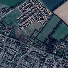 An aerial view of the land north-east of Yarmouth Road, Stalham
