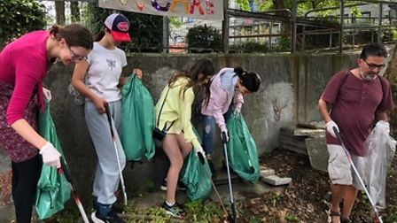 Little Hands Design's sustainability ambassadors organised a community litter pick on the Ludham and Waxham estate
