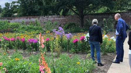 Broadland MP Jerome Mayhew during his visit to The Walled Garden in Little Plumstead on Friday