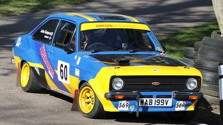 John Simpson - Ford Escort Mk2 - 3rd in the Wiscombe Park Championship
