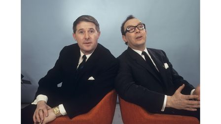 Ernie Wise and Eric Morecambe from 1967. Morecambe and Wise: The Lost Tapes is being shown on ITV.