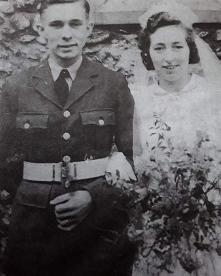 Jack and Margery Millican on their wedding day in 1943.