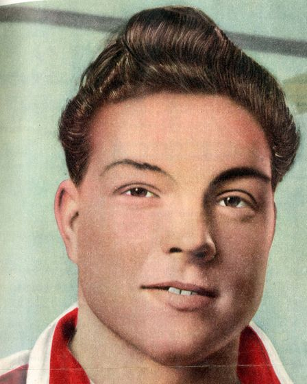 """Tommy Northcott as he appeared in an early edition of """"Charlie Buchan's Football Monthly"""""""