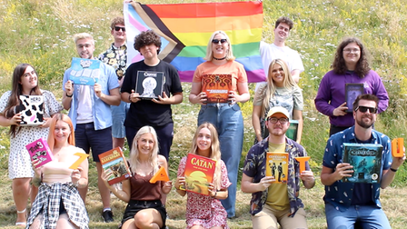 Pictured as part of Norwich Pride are the Zatu Games. Organisers are calling on people to take part in the virtual march