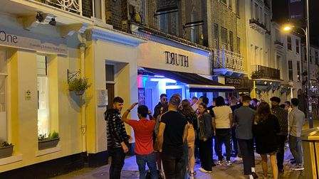 Queues were building at several of Norwich's nightclubs on Prince of Wales Road by 10.30pm on Saturday night.